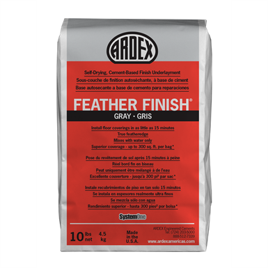 Sous-couche de finition à base de ciment à séchage automatique ARDEX FEATHER FINISHMD