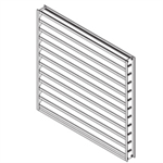 "Extruded Aluminum Louver, 2"" Deep, 45 deg Inverted ""Y"" Blade"