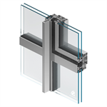 MB-SLIMLINE 82.5 three-winged fixed - tilt&turn - fixed window system with slim profiles