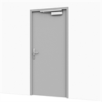Entrance Door w/ Electric Lock - Motor