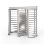 CLSTT Tandem Full Height Security Turnstile (Clear Curved Sections)