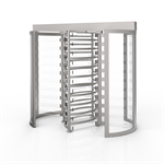 CPSTT Tandem Full Height Security Turnstile (Clear Curved; Clear Arms)