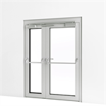 Exterior Double Door w/ Panic Push Bar