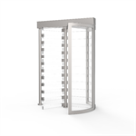CPST Full Height Security Turnstile (Clear Curved Section; Clear Arms)