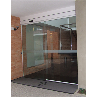 Automatic Door Single Slide Left With Fixed Leaf Top
