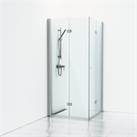 Forsa Corner shower with folding screen 90x90