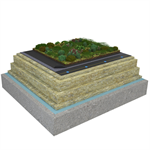 Mono PM 1-layer system for green roofs with a slope ≥3,6° on concrete insulated with mineral wool