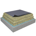 Mono PM 1-layer system of SBS-modified bitumen on concrete insulated with mineral wool