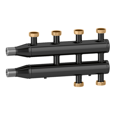 Manifold for heating and air conditioning systems