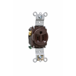 Heavy-Duty Spec Grade Single Receptacles, Back & Side Wire, 15-20A, 125-250V
