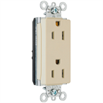 Heavy-Duty Decorator Spec Grade Receptacles, Back & Side Wire, 15-20A, 125V