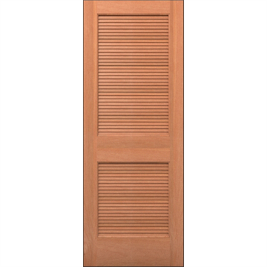 Wood Louver Door Interior Residential