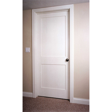 2 Panel Wood Door Interior Commercial