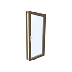 Windowdoor single Wood-ALU Internorm HF410 1T