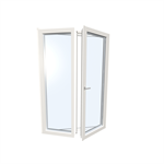 Windowdoor double UPVC-ALU Internorm KF410 5T