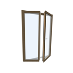Windowdoor double Wood-ALU Internorm HF410 5T