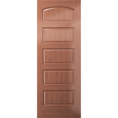 Arched 5 Panel Wood Door Interior