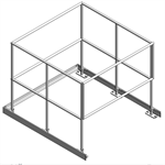 Aluminum Guardrail System - Floor Mount, With Self Closing Gate