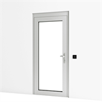 Entrance Door w/ Panic Lock and Wall Reader