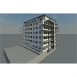 Apartment building Revit 2014